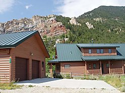 log home, home, garage, shop, red lodge montana, montana, mount maurice, acre, lot, rock creek, rock, creek, property, deck, bedroom,