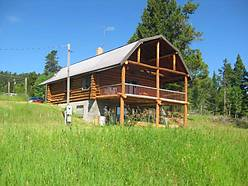 bedroom, bath, basement, loft, home, porch, fenced, garden, views, mountains, lincoln valley, creek, forest service, land, horseback riding,