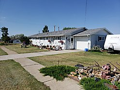duplex, for sale, st. marie, montana, one level, garage, fenced yard, glasgow, fort peck lake,  for sale