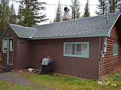 log cabin , creek frontage, anaconda, montana, forest service lease requirements, bedroom, bath, warms spring creek, year round access, hunters, Deb Dauenhauer-Hess,