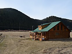 Phillipsburg , Montana, flint creek frontage, balcony, views, log home for sale