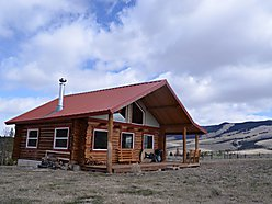 Rock Creek, outdoor adventure, acre, Willow Creek, log cabin, porch, Big Sky, Phillipsburg, MT. for sale