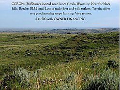 lot, for sale, cedar canyon ranch, building sites, seller financing, acres, wyoming, payments, land, for sale