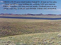 land, for sale, wyoming, public land, views, waterfront, power, phone, wheatland reservoir, acres,  for sale