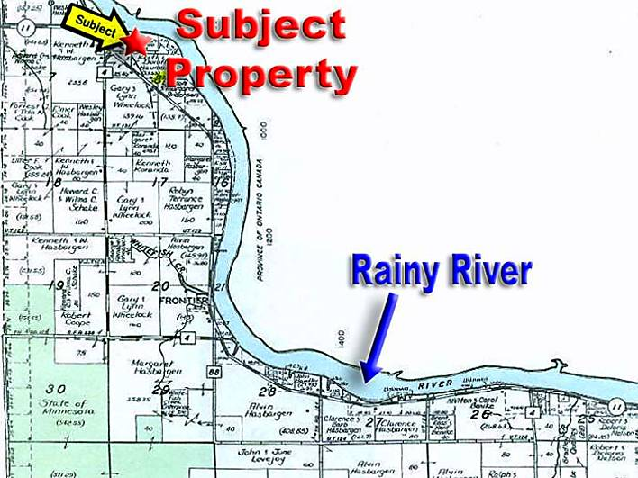 Large Acre Tract On The Rainy River For Sale In Baudette Minnesota - Minnesota rivers map