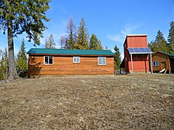 cabin, acres, oak floors, property, wood stove, shop, view, porch, getaway,  for sale