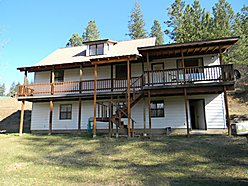 home for sale, acre, view, lake, peaceful, spacious, loft, unfinished, lawn, deck, St. Maries, ID. for sale