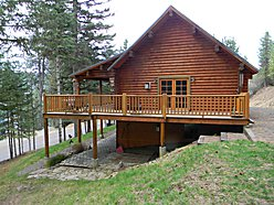 St. Maries, Idaho, log home for sale, pantry, gas stove, loft, family room, mountains, for sale