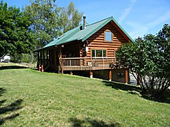 log home, St. Joe River, summer home, loft, garage, shop, dock, covered porch for sale