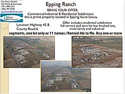 subdivision, lots, home, for sale, epping, north dakota, lewis and clark state park, missouri river, for sale