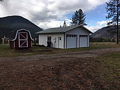 land, acres, clark fork river, river view, river valley, garage, storage, shed, septic, power, well, for sale