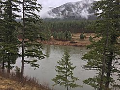 river front, for sale, 200 ft., clark fork river, mountains, valley, building site, superior mt,  for sale