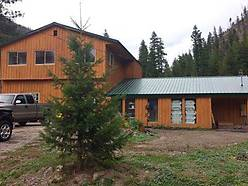 superior montana, remodeled, home, creek frontage, porch, deck, creek, mountain, landscaping, wildlife, forest service, lands, recreational,
