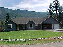 home, for sale, mountains, river, view, garage, yard, garden, play area, Superior, Montana, deck,  for sale