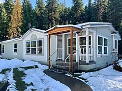 home, for sale, single level, manufactured home, seasonal creek, deep creek, usfs land, wildlife,  for sale
