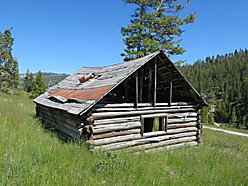 land, for sale, national forest, big hole river, montana, wildlife, fish, miners cabins, wise river, for sale