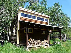 Lincoln, Montana, Cabin, Solar power, off the grid, wood stove, goat shelter, wildlife, hunting, views  for sale